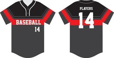 honkbal t-shirt mock voor en achter vector