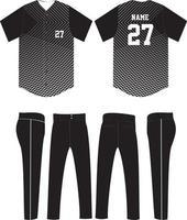 honkbal jersey ontwerp uniform sjabloon mockup vector