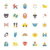 baby pictogramserie. eenvoudige vorm schattig pictogram. vector