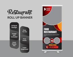moderne voedsel roll-up banner ontwerpsjabloon vector