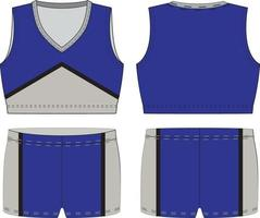 gesublimeerde mouwloze cheer-uniformen met v-hals vector