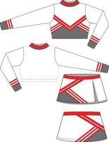cheer uniforme mock-ups sjablonen gesublimeerd vector