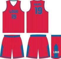 basketbal uniform jersey shorts op maat gemaakte ontwerpen vector