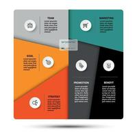 segmentatie werk en functies uitleg. analyseer verschillende bedrijfsprocessen. vector