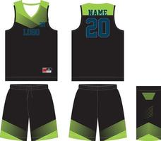 custom design basketbal t-shirt uniform kit vector