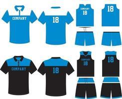 custom design basketbal uniformen sport jersey met korte broek vector