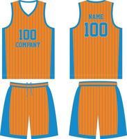 custom design basketbal t-shirt uniform kit vector