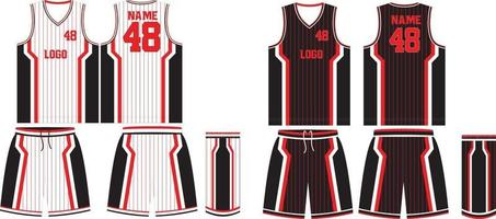 omkeerbaar basketbal uniform jersey en korte broek vector