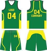 custom designs basketbal uniform jersey met korte broek vector