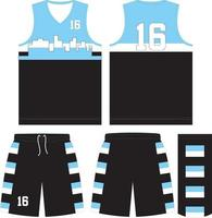 basketbal uniform mockup-ontwerp voor basketbalclub vector