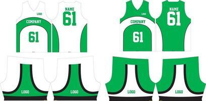 patronen voor basketbalshirts en korte broeken vector
