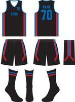 mock-ups op maat van basketbaluniform met sokken vector