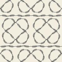 naadloze fabic patroon achtergrond met zwart-wit bladeren frame