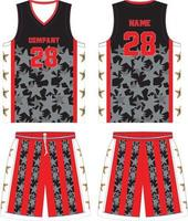 custom design basketbal uniformen jersey en korte broek vector