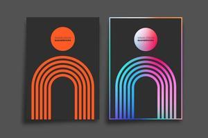 verloop en minimaal lijnontwerp voor achtergrond, behang, flyer, poster, brochureomslag, typografie of andere afdrukproducten. vector illustratie