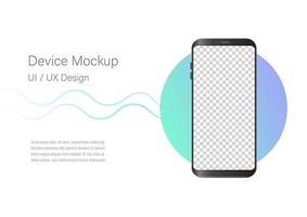 nieuw realistisch mobiel zwart met leeg scherm, telefoonmodel. sjabloon voor infographics of presentatie ui ontwerpinterface. vector
