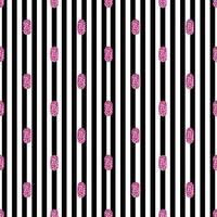 naadloze Valentijn roze glitter stip van ovale vorm patroon op streep achtergrond