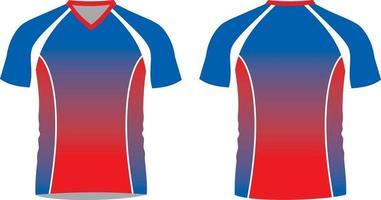 voetbal gesublimeerde shirts met halve mouw vector