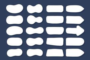 set van tekstballonnen dozen vectoren voor dialogen. cartoon dialoog geïsoleerd op de achtergrond