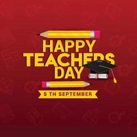 gelukkige lerarendag kaart ontwerp