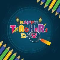 gelukkige lerarendag kaart ontwerp vector