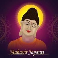 creatieve illustratie van mahavir jayanti