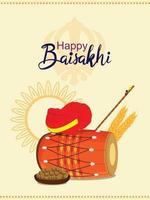 gelukkige vaisakhi indische festivalaffiche vector