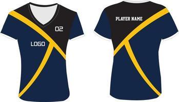 dames op maat gemaakt gesublimeerd volleybalshirt vector