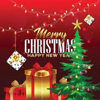 creatieve achtergrond voor prettige kerstdagen en een gelukkig nieuwjaar