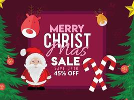 vrolijke kerst verkoop kaart
