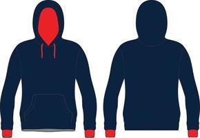 gesublimeerde hoodie mock up vector