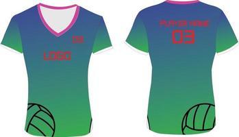 vrouwen custom design gesublimeerd volleybal vector