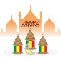 ramadan kareem of eid mubarak wenskaart