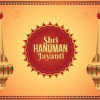 shri hanuman jayani achtergrondontwerp vector