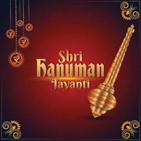 shri hanuman jayani achtergrond vector