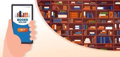 boek snelle levering. locatie op telefoon online. vector