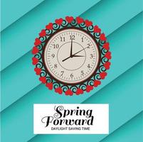 vectorillustratie van een banner voor het wijzigen van uw klokkenbericht voor zomertijd. vector