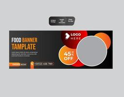 fastfood concept sjabloon voor spandoek vector