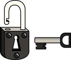 eenvoudige sleutel en slot, perfect voor design vector