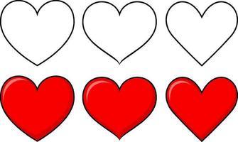 set van verschillende vormen van hart
