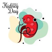 vectorillustratie van een achtergrond voor wereld nier dag. vector