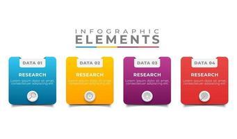 zakelijke infographic set met tekst kleurrijke pictogrammen illustratie vector