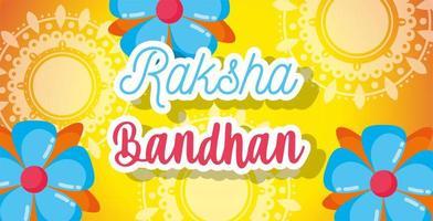 gelukkig raksha bandhan posterontwerp vector