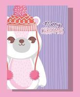 ijsbeer voor kerstviering vector