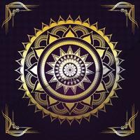 mandala creatieve gouden mandala vector