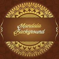 luxe achtergrond met gouden mandala vector