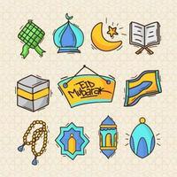 eid mubarak pictogramserie