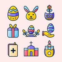Pasen feest pictogramserie