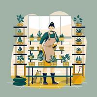 tuinieren thuis concept vector
