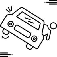 lijn pictogram voor overlijden door ongeval vector